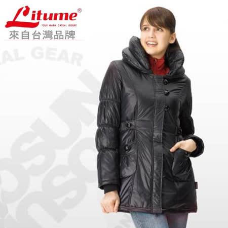 【意都美 Litume】零碼出清 女 Primaloft One 超輕量透氣防風保溫棉外套_黑 H7018