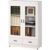 顛覆設計 小雅書居2.7尺雙門書櫃/收納櫃(二抽)