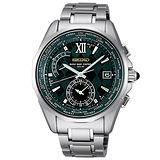 SEIKO BRIGHTZ 太陽能白鈦電波腕錶(8B53-0AH0G)-墨綠