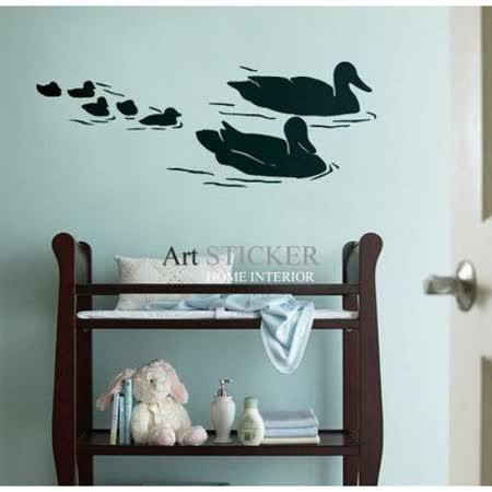 Art STICKER璧貼 。 Swimming geese (A015)