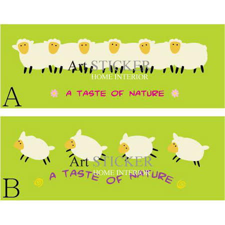 Art STICKER壁貼 。 可愛綿羊Cute Lambs (A020)  B款