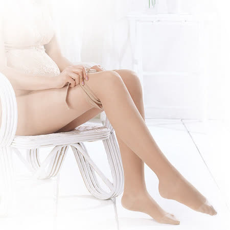 妮妮 NiNi 100%彈性保暖褲襪(膚/黑)