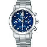 SEIKO lk 星光閃耀計時腕錶(V175-0AC0B)-藍/銀