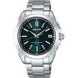 SEIKO BRIGHTZ 科技電波太陽能腕錶(7B24-0AK0G)- 綠/銀