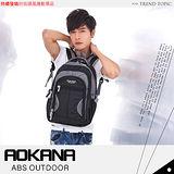 《AOKANA奧卡納》護脊輕量防潑水電腦後背包(68-023)(黑灰)