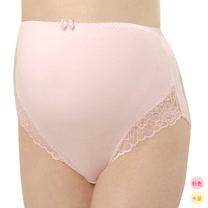 妮妮 NiNi 中腰褲腳蕾絲內褲(米黃/粉色)