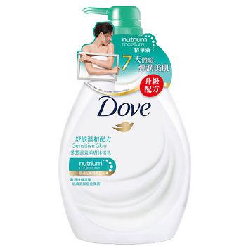 多芬Dove滋養柔膚沐浴乳-溫和低敏感配方1000ml