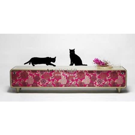 Art STICKER壁貼 。 Black kitty (A055) 5款(A,B,C,D,E)