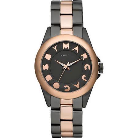 【Marc Jacobs】MBMJ閃電玩家復刻腕錶(MBM3114)-黑灰/玫塊