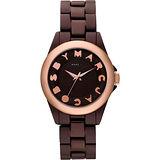 【Marc Jacobs】MBMJ 美麗無限鋁合金復刻腕錶(MBM3527)-咖啡/35mm