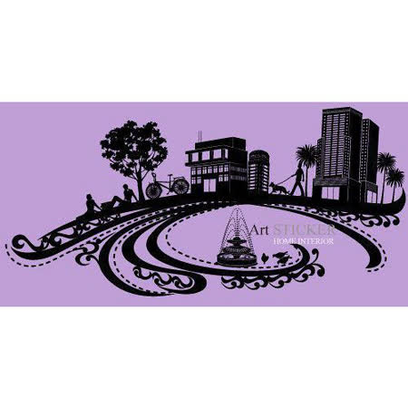 Art STICKER璧貼 。 潮流城市-悠閒的午後 (B007)