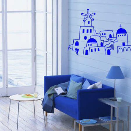 Art STICKER壁貼 。 地中海希臘風 - B (B016)
