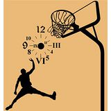Art STICKER璧貼 。 時尚籃球時鐘 - A (C002)