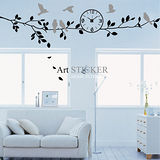 Art STICKER璧貼 。 Morning Tree&Clock (C005) A款
