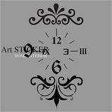Art STICKER璧貼 。 時尚花紋時鐘-D (C011)