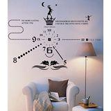 Art STICKER壁貼 。 獨家時尚時鐘 - B (C012)