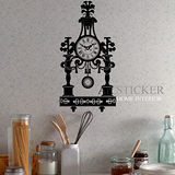 Art STICKER璧貼 。 Classic clock (C019)