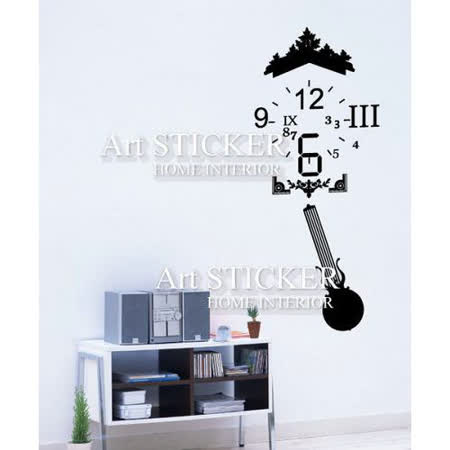 Art STICKER璧貼 。The new fashion clock (C032)