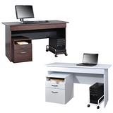 《BuyJM》檔案櫃+主機架+附抽屜電腦桌/工作桌(122公分)-2色可選