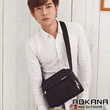 AOKANA奧卡納 MIT台灣製造 YKK拉鍊 輕量防潑水多隔層旅行商務側背包 (典雅黑) 02-011