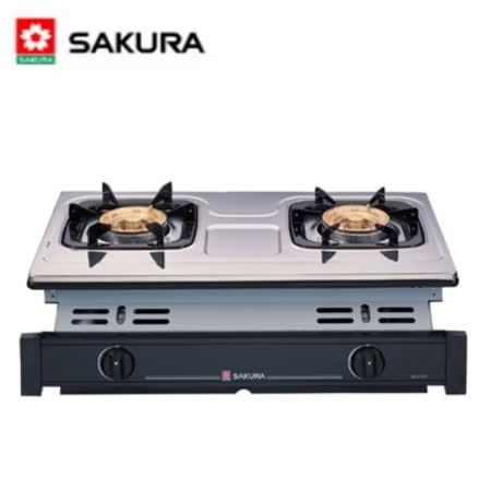 SAKURA櫻花 兩口崁入式安全瓦斯爐 G-6120K (桶裝瓦斯LPG)