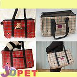 『J.D. PET寵物精品』-格紋寵物包L號