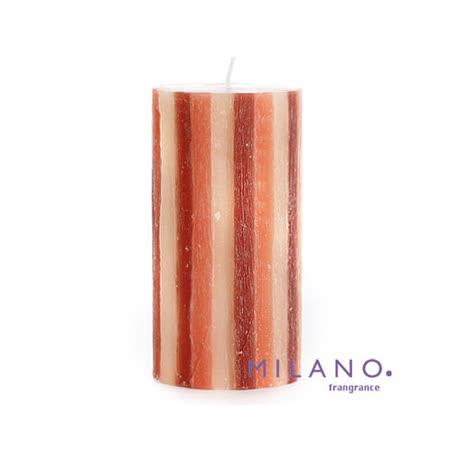 【MILANO 米蘭香氛蠟燭】聖誕樹木紋檀香木香氛手工蠟燭(3x6吋)