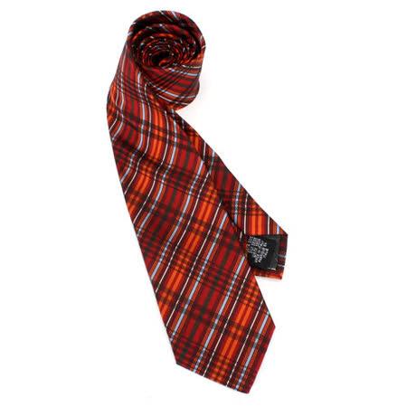 【真心勸敗】gohappy線上購物Vivienne Westwood 斜格紋絲質領帶(紅/橘)效果如何新竹 愛 買 地址