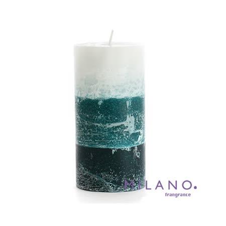 【MILANO 米蘭香氛蠟燭】漸層暈染南洋香氛手工蠟燭(3x6吋)