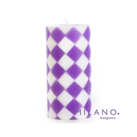 【MILANO 米蘭香氛蠟燭】時尚菱格薰衣草香氛手工蠟燭(3x6吋)