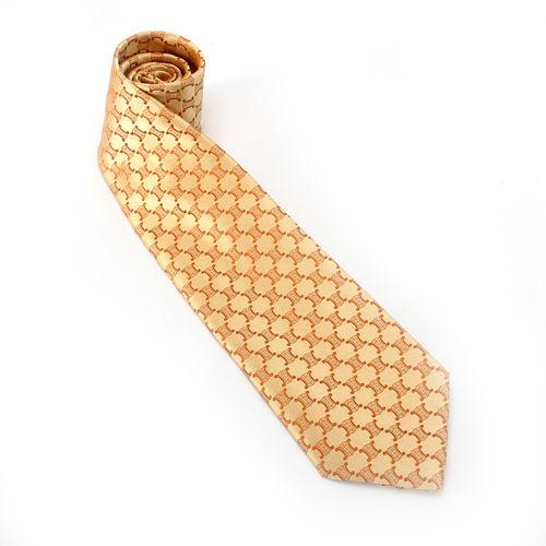 CELINE BLASON LOGO紳士絲質領帶-黃色