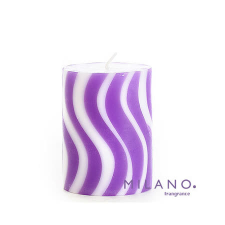 【MILANO 米蘭香氛蠟燭】螺旋曲線薰衣草香氛手工蠟燭(3x4吋)