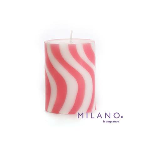 【MILANO 米蘭香氛蠟燭】螺旋曲線水蔓草香氛手工蠟燭(3x4吋)