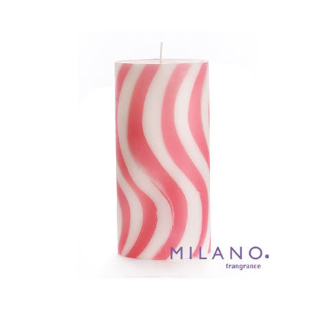 【MILANO 米蘭香氛蠟燭】螺旋曲線水蔓草香氛手工蠟燭(3x6吋)