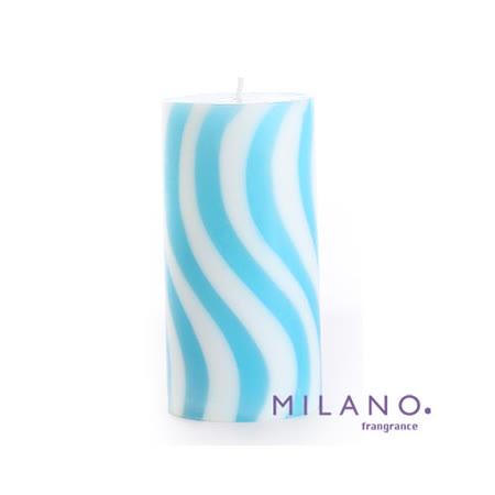 【MILANO 米蘭香氛蠟燭】螺旋曲線微風香氛手工蠟燭(3x6吋)