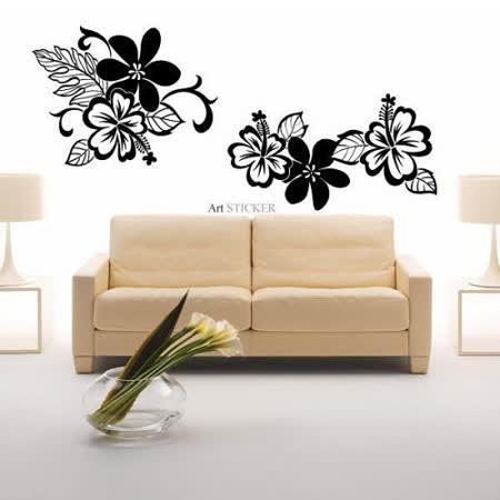 Art STICKER壁貼 。 扶桑花系列壁貼 (F040)