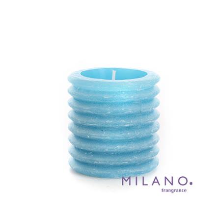 【MILANO 米蘭香氛蠟燭】層層圓圈微風香氛手工蠟燭(3x3吋)