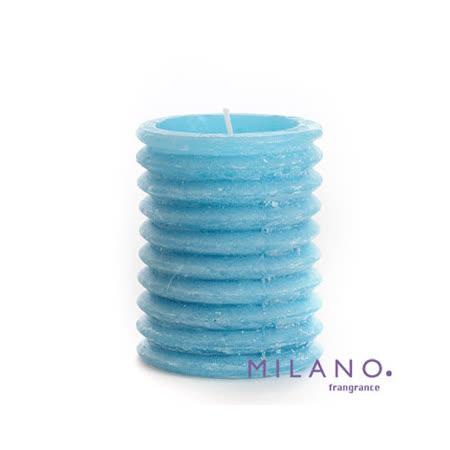 【MILANO 米蘭香氛蠟燭】層層圓圈微風香氛手工蠟燭(3x4吋)