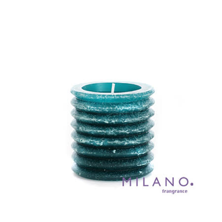 【MILANO 米蘭香氛蠟燭】層層圓圈南洋香氛手工蠟燭(3x3吋)