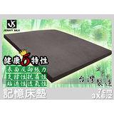 備長炭記憶床墊.平面厚度7cm.標準單人.全程臺灣製造