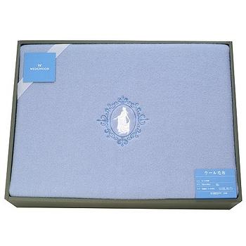 WEDGWOOD 童話魔鏡公主水藍羊毛毯禮盒(水藍)