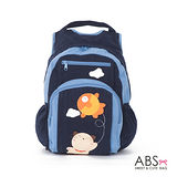 ABS貝斯貓 Fish&Cat 拼布雙肩後背包 (海洋藍) 88-168
