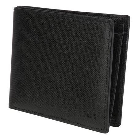 DAKS 全皮革8卡短夾-黑色