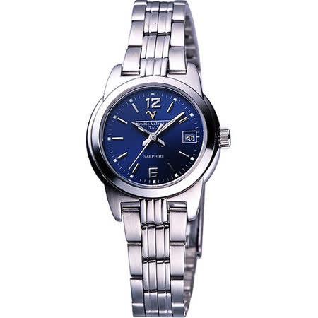Valentino 輝煌年代經典女錶(SL5107S藍)-寶藍