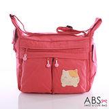 ABS貝斯貓 可愛貓咪手工拼布包 斜背包(可愛粉)88-147