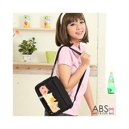 ABS貝斯貓 甜心貓咪手工拼布包 側背包88-127典雅黑