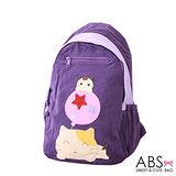 ABS貝斯貓 可愛貓咪手工拼布後背包(甜美紫)88-143
