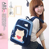 ABS貝斯貓 可愛貓咪手工拼布後背包(海洋藍)88-142