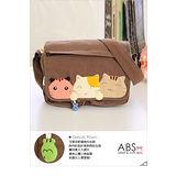 ABS貝斯貓 甜心貓咪手工拼布包 側背包88-127咖啡