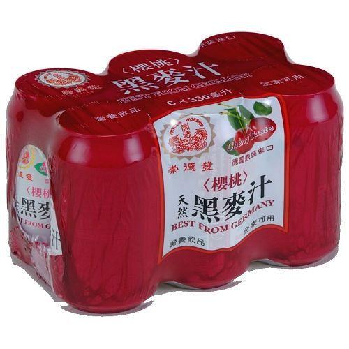 崇德發黑麥汁易開罐-櫻桃330ml*6入